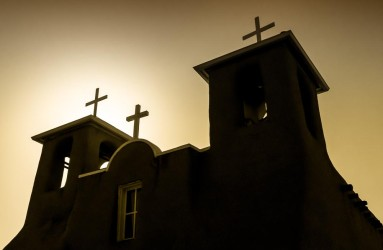 St. Francis Church Silhouette, Taos