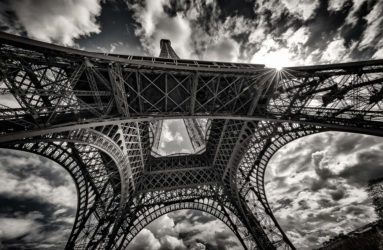 Eiffel Tower Sunburst, Paris, France