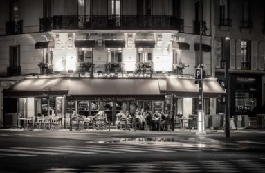 Cafe At Night, Paris, France