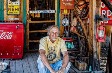 Johnnie Meier, Gas Pump museum owner, Embudo, NM